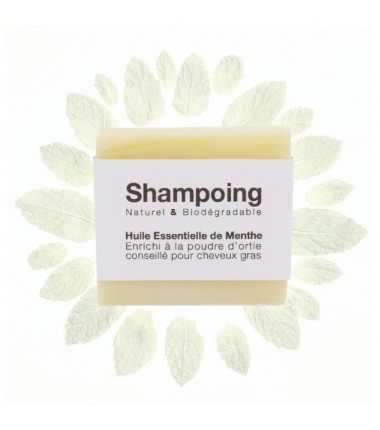 Shampoing solide parfum menthe