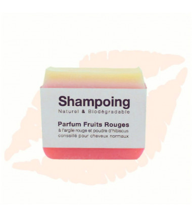 Shampoing solide parfum fruits rouges
